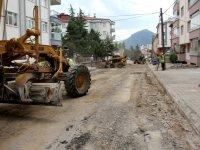 Seydişehir'de asfalt yenileme çalışmaları