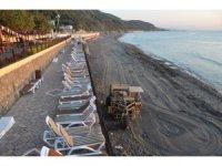Alaplı Belediye Plajı'na otobüs seferleri başladı