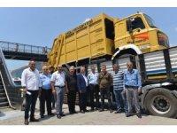 Çiğli'den Trabzon Düzköy'e çöp kamyonu