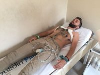 Kömürspor'da futbolcular sağlık kontrolünden geçti