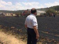 Başkan Ağralı, yanan arazileri inceledi