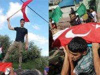 Gazze şehidini Türk bayrağıyla uğurladı