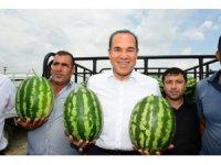 Karpuz üreticilerinden Başkan Sözlü'ye teşekkür