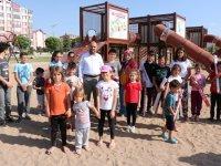 Vuslat Parkı'nda çocuklar için yeni nesil oyun alanı