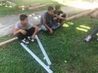 Alüminyum profil çalan 3 çocuk yakalandı