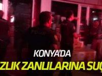 Konya'da Hırsızlık Zanlılarına Suçüstü