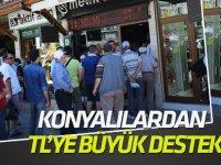 Konya'da Türk Lirasına destek kampanyası