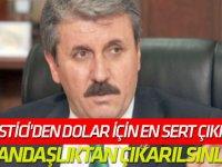 """""""Vatandaşlıktan çıkarılsınlar"""" Mustafa Destici'den dolar için en sert çıkış!"""