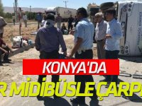 Konya'da tır midibüsle çarpıştı: 9 yaralı
