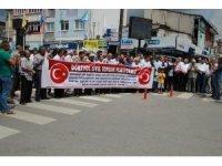 """Dörtyol'da 25 STK'dan """"Türk lirasına sahip çıkıyoruz, devletimizin yanındayız"""" açıklaması"""
