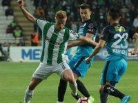 İlk yarı sona erdi: Konyaspor: 1 - Bursaspor: 1