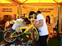 Eti Sarı Bisiklet Geri Dönüşüm Kampanyası Konya'da