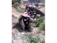 Erzurum'da traktör devrildi: 1 ölü