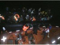Güzelçamlı'da 22'si çocuk 46 kaçak göçmen yakalandı