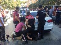 Kadını darp edip kaçan sürücü kovalamaca sonucu yakalandı