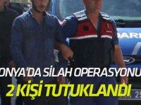 Konya'da silah operasyonu: 2 kişi tutuklandı