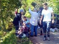 Ordu'da freni patlayan otomobil ağaca çarptı: 6 yaralı