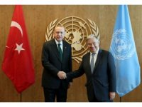 Erdoğan-Guterres görüşmesi başladı