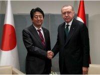 Cumhurbaşkanı Erdoğan, Japonya Başbakanı Şinzo Abe'yi kabul etti