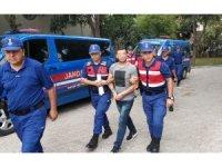 Samsun'da jandarmaya tehdit ve yaralamaya tutuklama