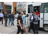 Çökertilen hırsızlık çetesinin mensuplarına tutuklama