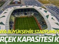 Konya Büyükşehir Stadyumu'nun gerçek kapasitesi kaç?