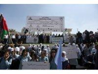 Batı Şeria'da UNRWA'nın hizmetlerindeki kısıtlamalar protesto edildi