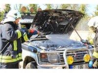 Üniversite Kampüsünde araç yangını -