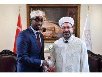Erbaş, Somali Vakıflar ve Din İşleri Bakanı Hasan ile görüştü
