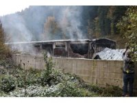 GÜNCELLEME - Abant'ta su dolum tesisinde yangın