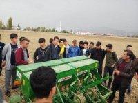Tarım Meslek Lisesinde buğday ekimi yapıldı