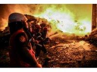 Bursa'da Kayapa Sanayi Bölgesi'ndeki yangın