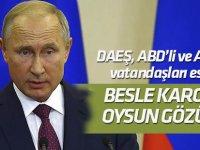 Putin: Teröristler Fırat'ın güneyinde ABD ve Avrupa vatandaşlarını esir aldı