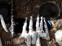 Bingöl'de PKK'ya darbe: Toprağa gömülü cephanelik ele geçirildi