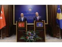 Çavuşoğlu-Pacolli ortak basın toplantısı