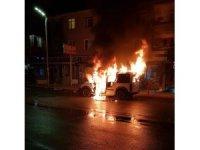 Başkentte oto yangını