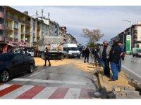 Konya'da trafik kazası MOBESE'ye yansıdı