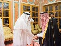Kral Selman ile Veliaht Prens, Kaşıkçı'nın oğullarını kabul etti