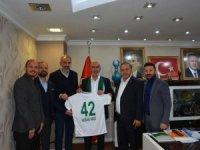 Konyaspor yönetiminden Hasan Angı'ya ziyaret