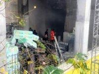 Zonguldak'ta hastane inşaatında yangın