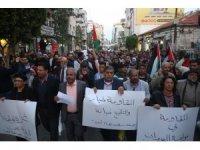 İsrail'in Gazze saldırıları Ramallah'ta protesto edildi