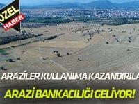 Atıl Araziler Üretime Kazandırılacak  ARAZİ BANKACILIĞI GELİYOR!