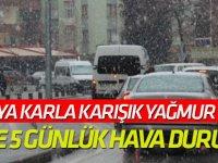 Konya'ya kar ve yağmur uyarısı