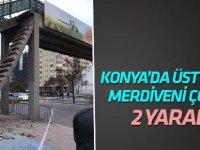 Konya'da Üst Geçidin Merdivenleri Çöktü: 1'i Çocuk 2 Yaralı