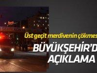 Konya'da çöken üstgeçit ile ilgili Büyükşehir'den açıklama