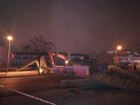 Konya'da çöken üstgeçit tamamen yıkıldı