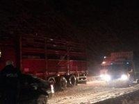 Seydişehir- Akseki yolunda ulaşım kontrollü olarak güçlükle sağlanıyor