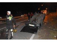 Zonguldak'ta otomobil devrildi: 4 yaralı