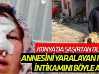 Annesinin yüzünü parçalayan koçtan intikamını böyle aldı!