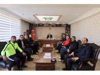 Spor camiasından Kaymakam Ayca'ya teşekkür ziyareti
